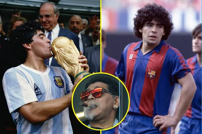 Maradonna smoking