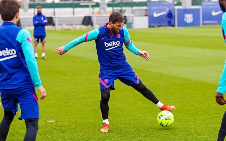 Messi training